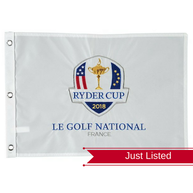 2018 Ryder Cup Embroidered Pin Flag- Le Golf National France