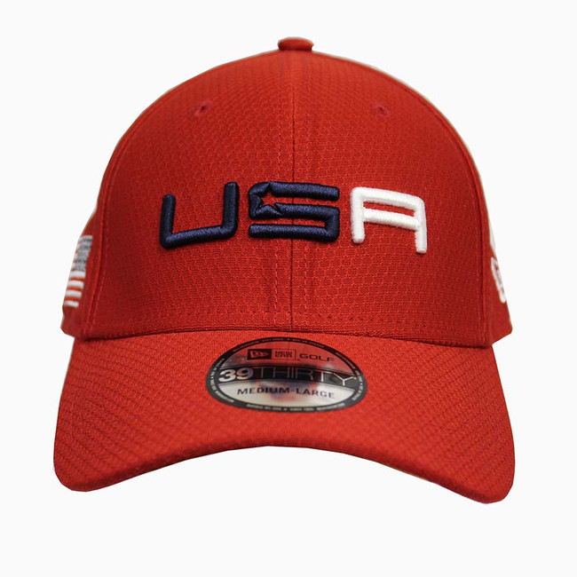 2018 Ryder Cup USA Sunday Hat -New Era Golf Tech- Red