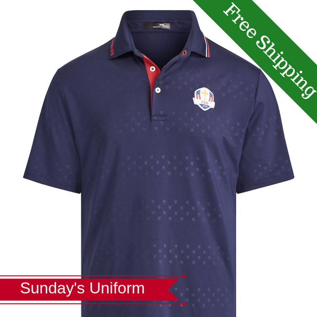 Ralph Lauren Ryder Cup Tech Navy Golf Polo- Sunday's Apparel