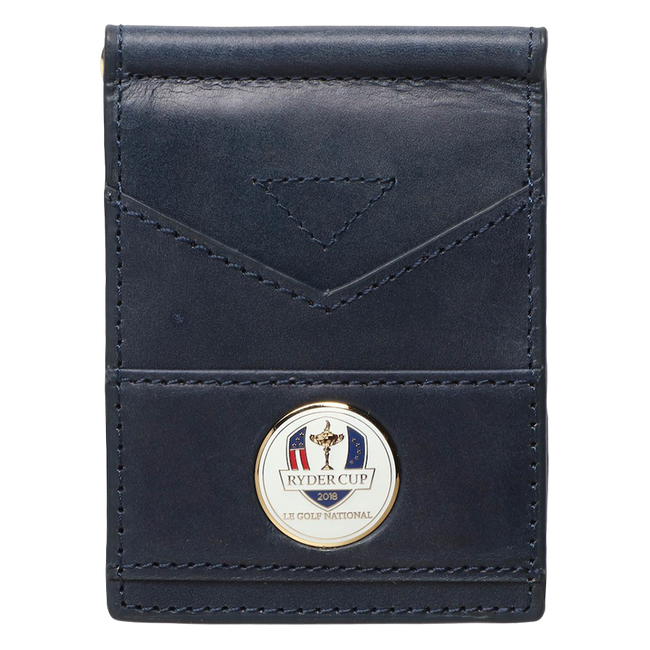 2018 Ryder Cup Leather Bi-Fold Wallet- Navy