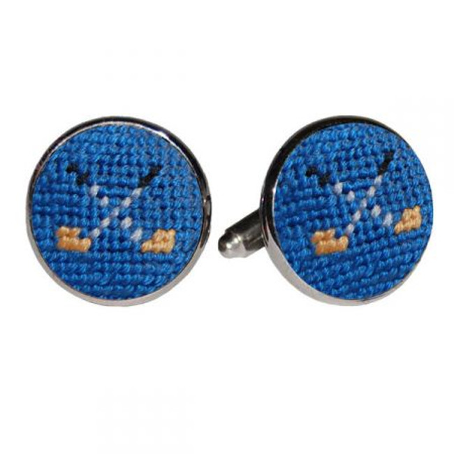 Smathers & Branson Blue Cufflinks- Golf Clubs