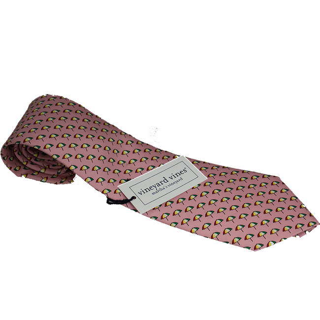 Arnold Palmer Umbrella Vineyard Vines Silk Tie- Pink