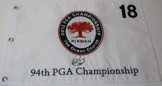 Rory McIlroy Signed 2012 PGA Championship Flag