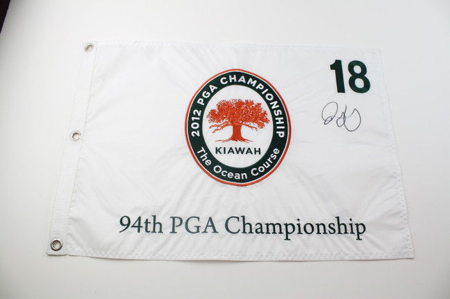 Authentic PGA Championship Pin Flag - White - Autographed by Rory McIlroy