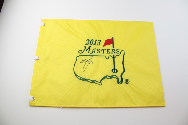 2013 Authentic Augusta National Masters Pin Flag - Autographed by Graeme McDowel