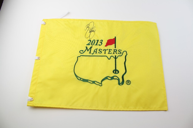 2013 Authentic Augusta National Masters Pin Flag Autographed by Ricky Fowler JSA