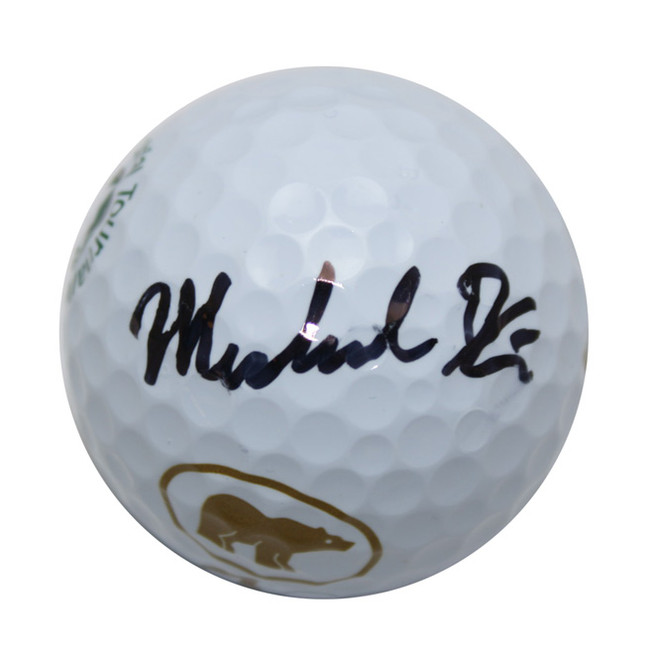 Michael Kim Autographed Memorial Logo Golf Ball