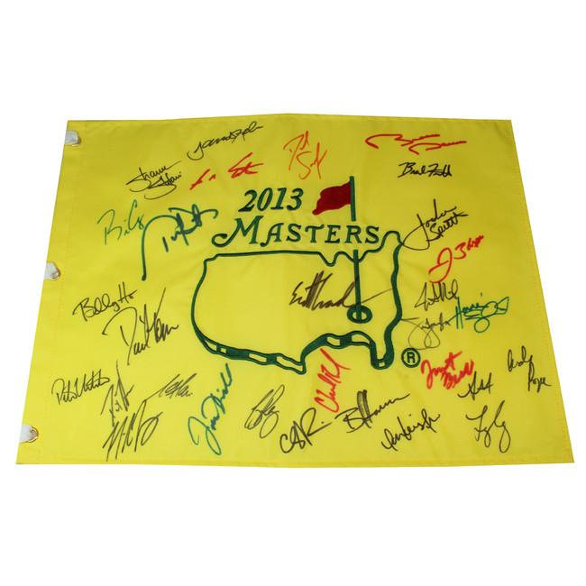 Multi Signed 2013 Authentic Augusta National Masters Pin Flag- Includes JORDAN SPIETH!