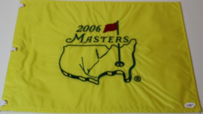 Kenny Perry Signed 2006 Authentic Augusta National Masters Pin Flag - JSA - COA