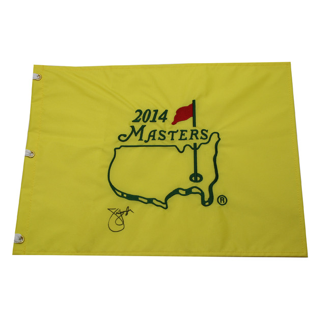 Jim Furyk Autographed 2014 Masters Pin Flag