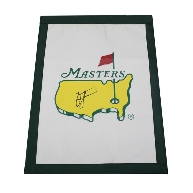Zach Johnson Autographed Masters Garden Flag