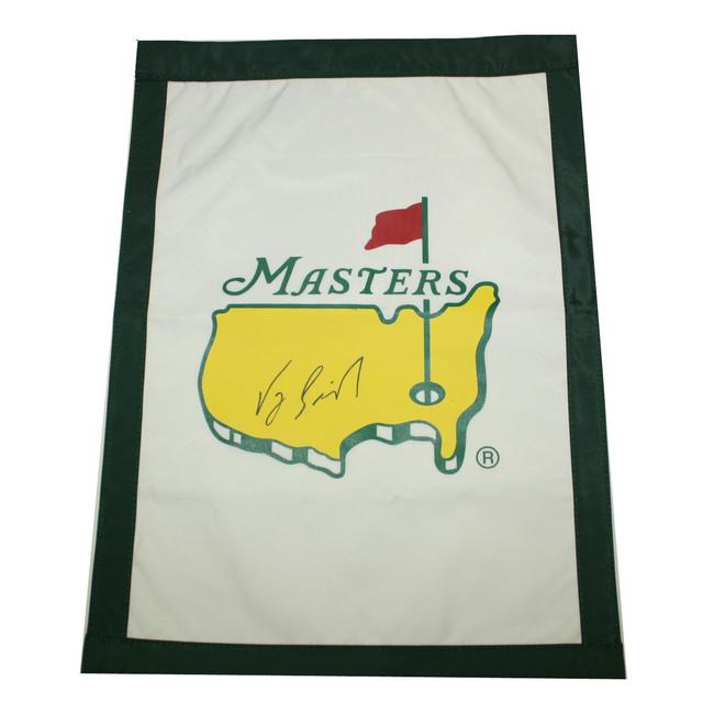 Vijay Singh Autographed Masters Garden Flag