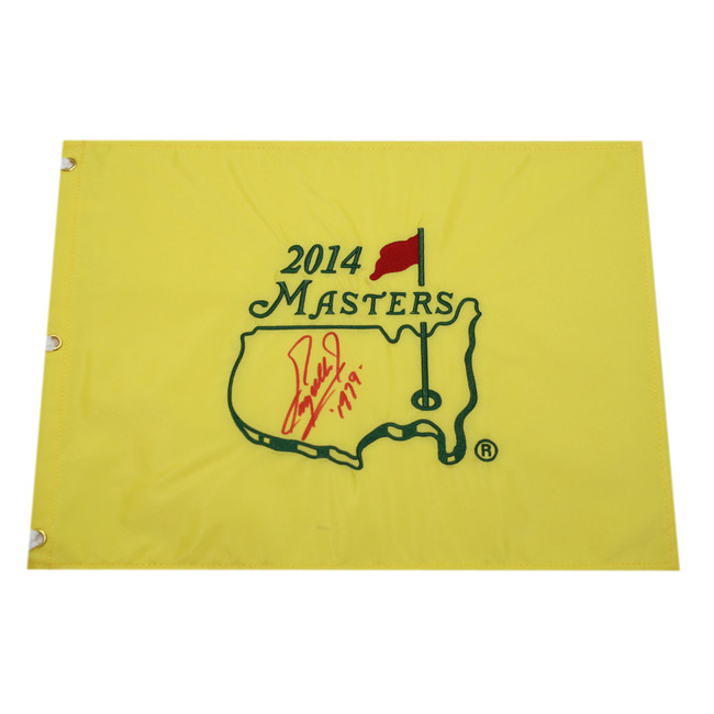 Fuzzy Zoeller Autographed 2014 Masters Pin Flag