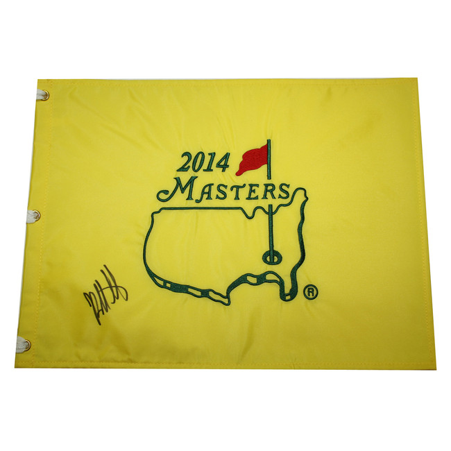 Bubba Watson Autographed 2014 Masters Golf Embroidered Pin Flag