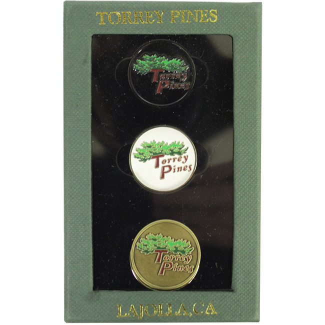 Torrey Pines Hat Clip Set with 3 Magnetic Ball Markers