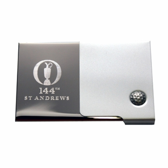 144th British Open Logo St Andrews Business Card Holder