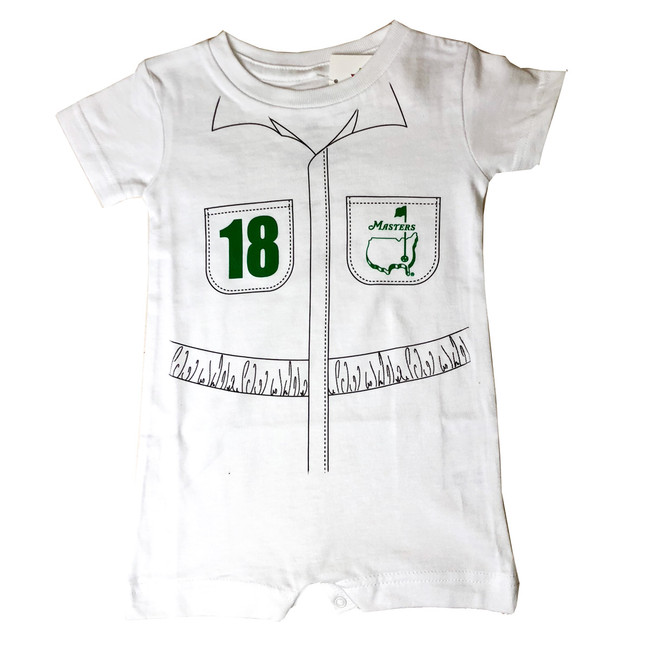 Masters Baby Caddy Onesie - White