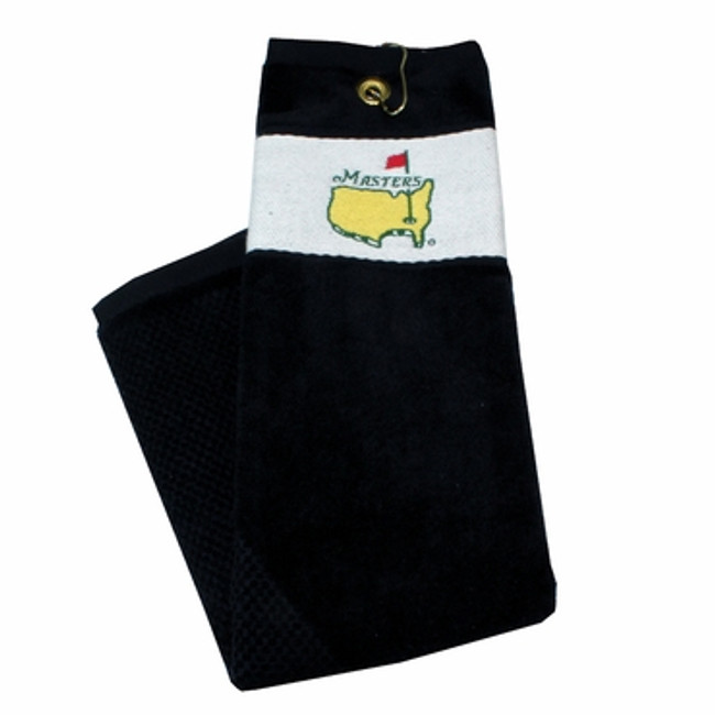 Masters Tri-fold Golf Towel - Black and White