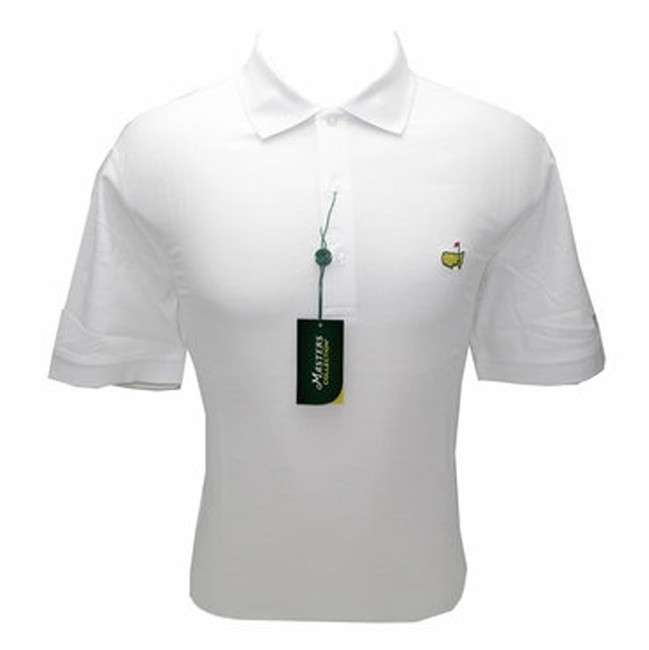 Masters White Jersey Golf Shirt