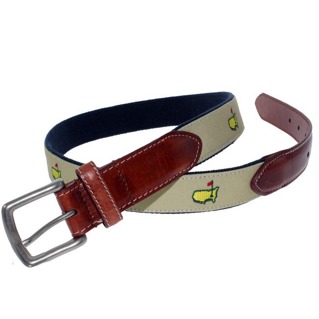 Masters Khaki Logo Belt