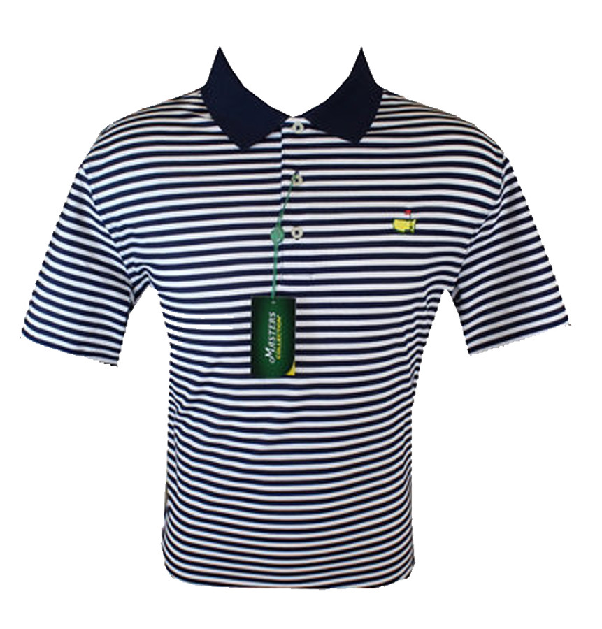 Masters Navy & White Jersey Golf Shirt