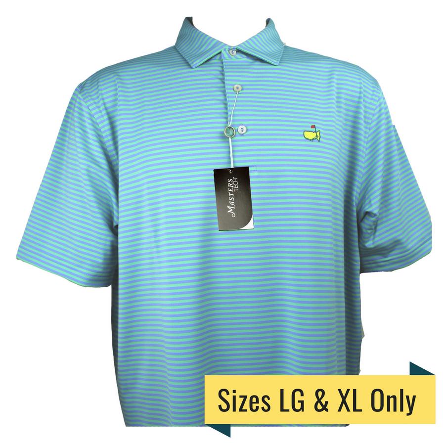 Masters Performance Tech Light Blue & Green Pastel Golf Shirt