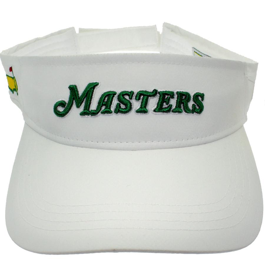 Masters White Script Visor