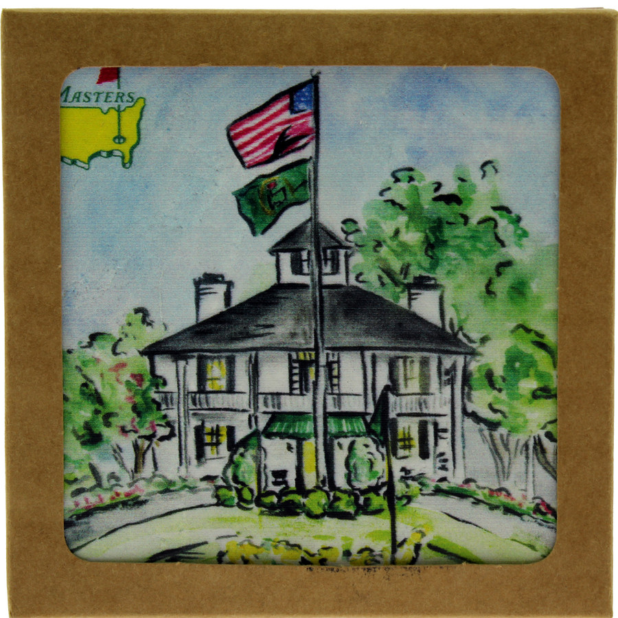 Masters Clubhouse Ceramic Coaster
