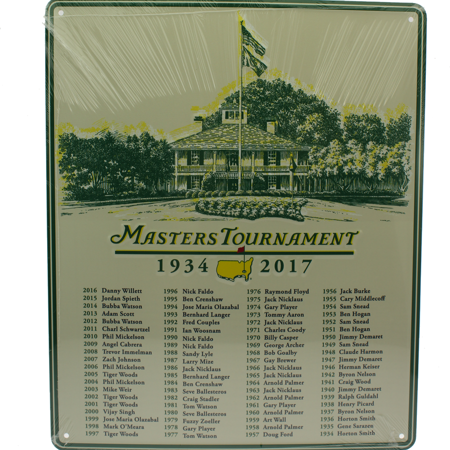 2017 Masters Champions 11x14 Metal Wall Sign