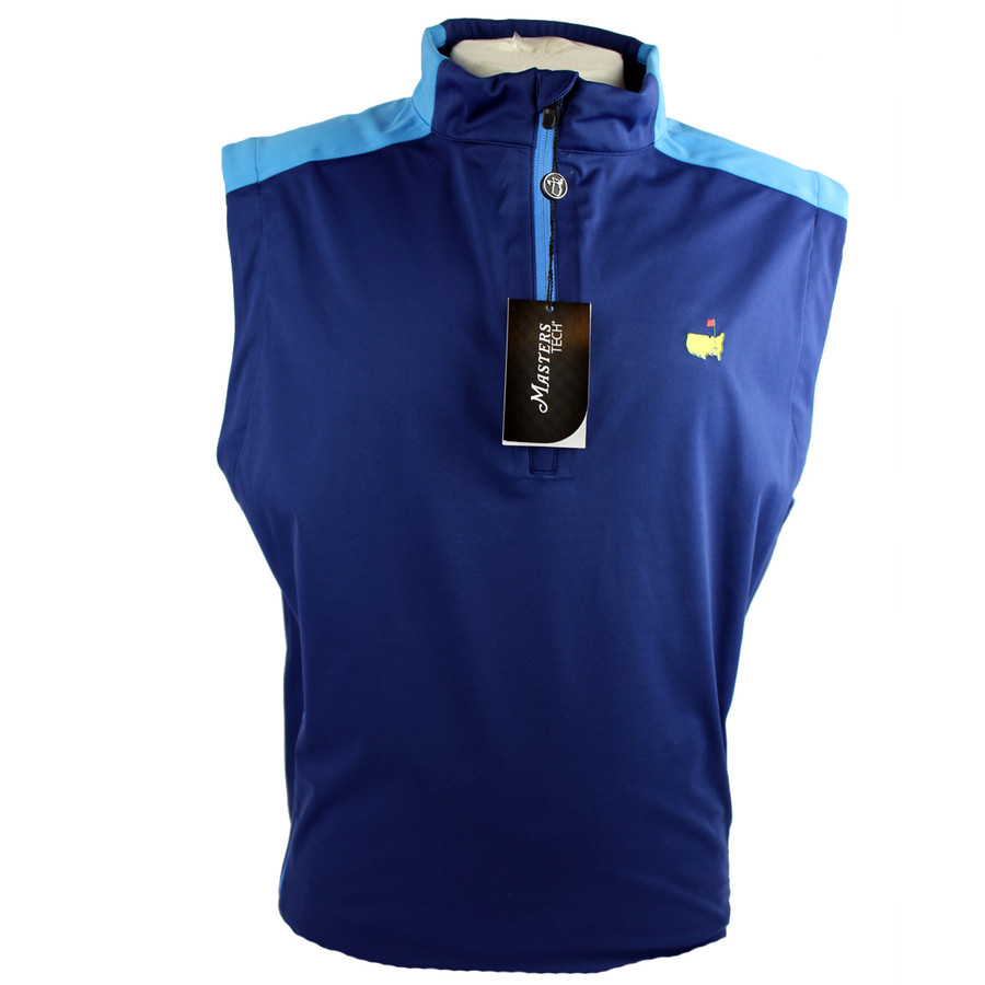 Masters Navy With Light Blue Performace Wind Vest
