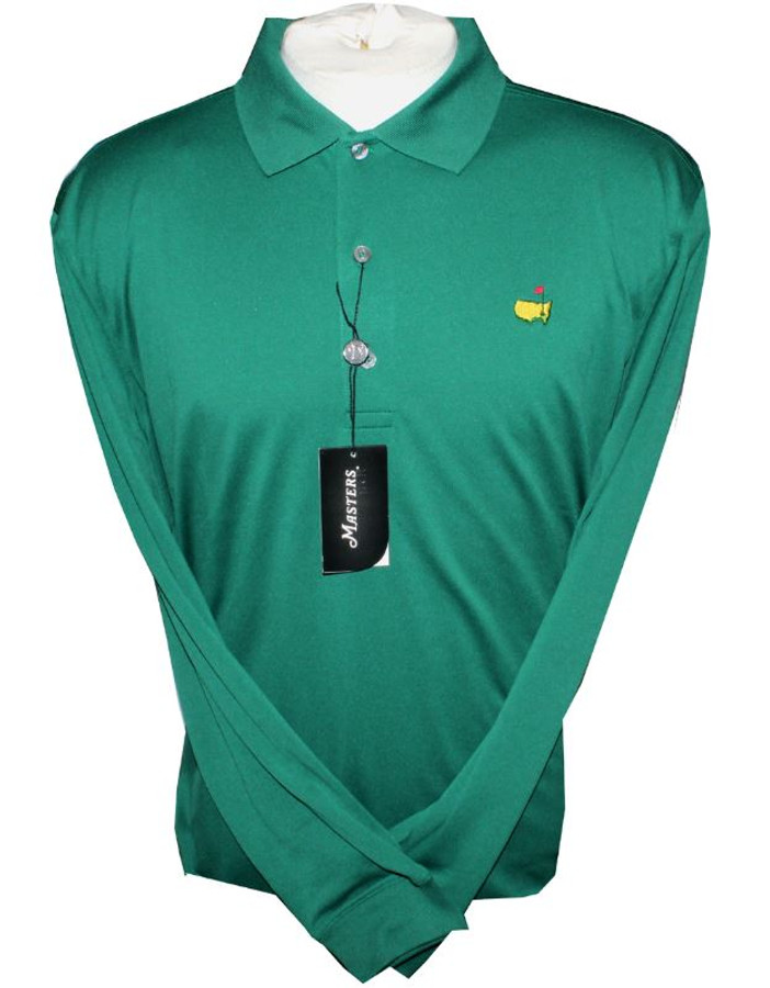 Masters Green Long Sleeve Performance Tech Golf Shirt (L Only)