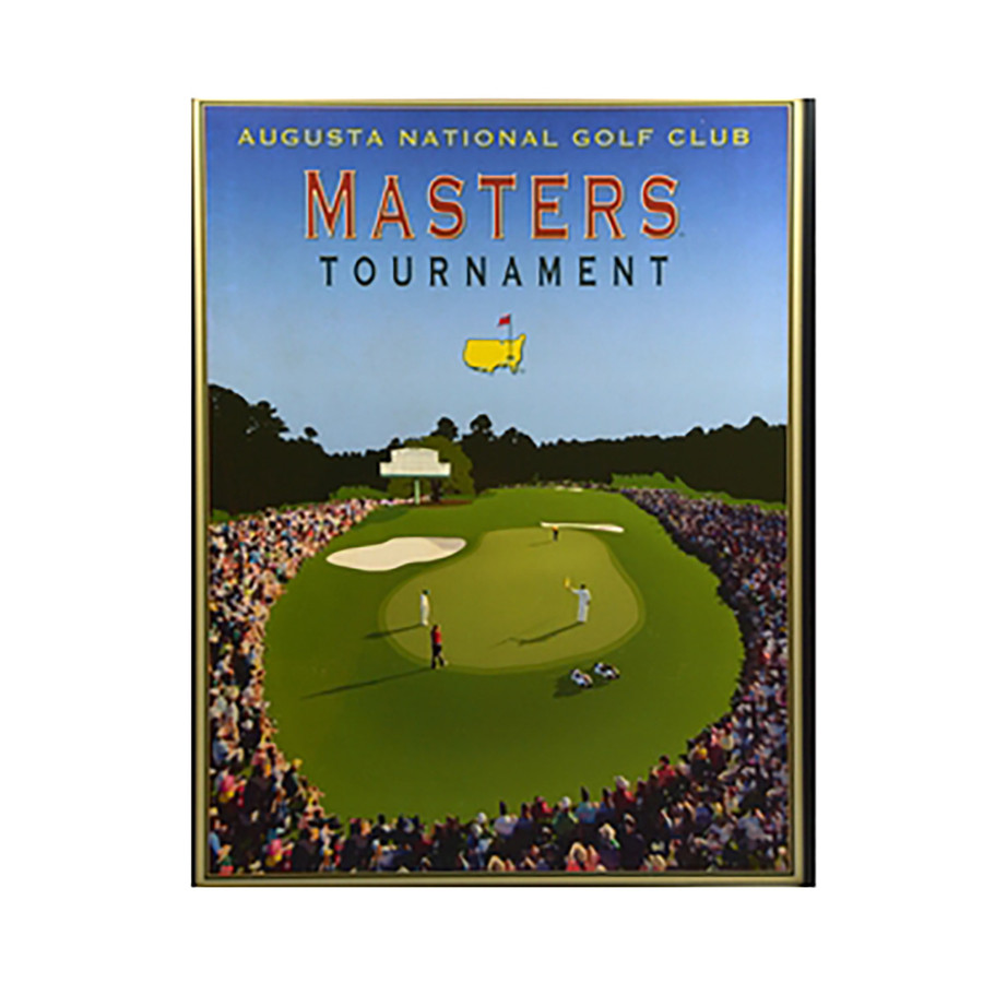 Vintage Style Masters Tournament Poster Featuring 18th Hole