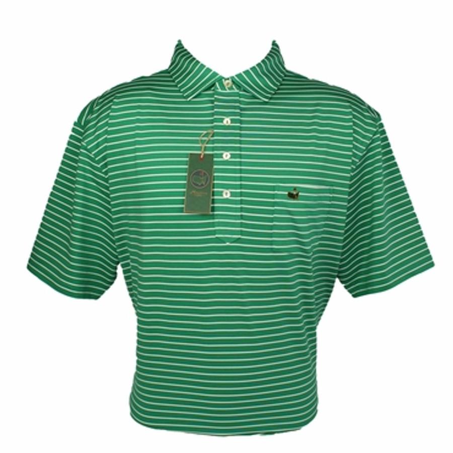Berckmans Masters Tech Polo Green White Striped