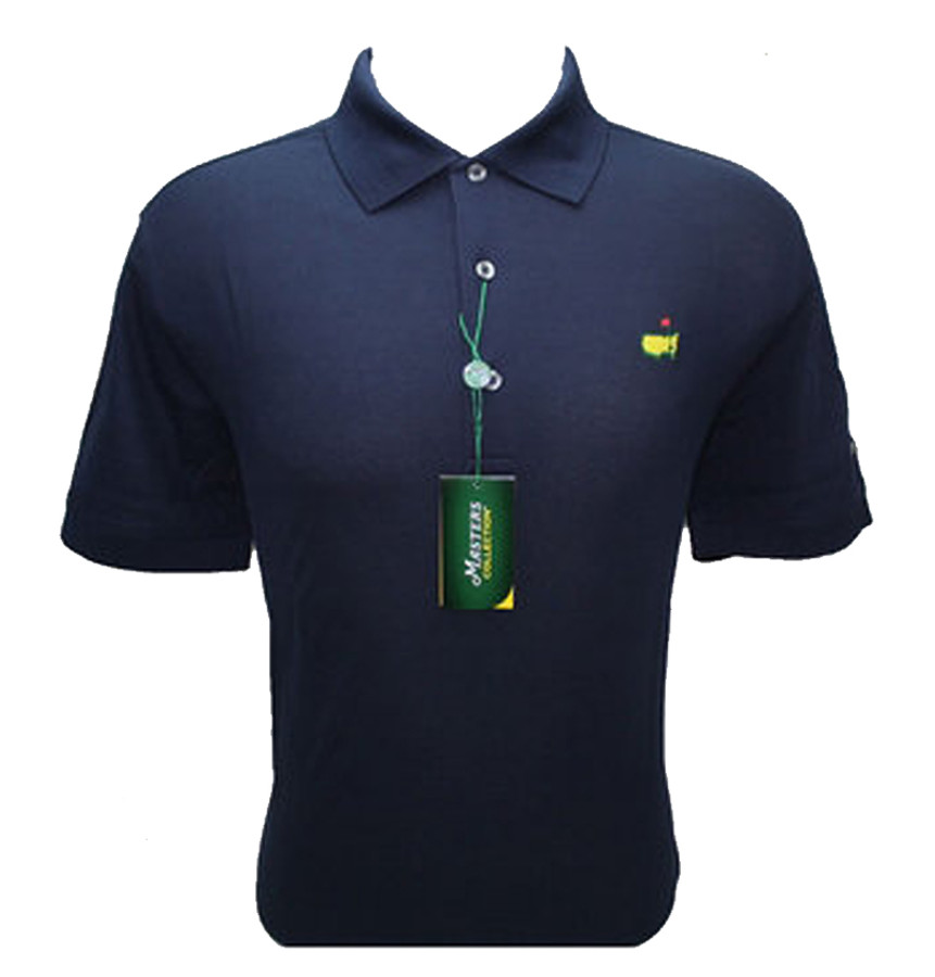 Masters Polo Shirt - Navy- 100% Pima Cotton