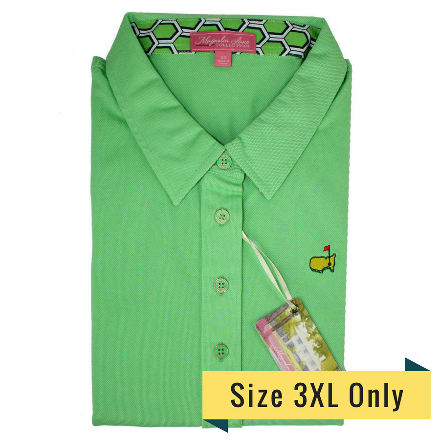 Masters Ladies Magnolia Lane Golf Shirt - Grass Green