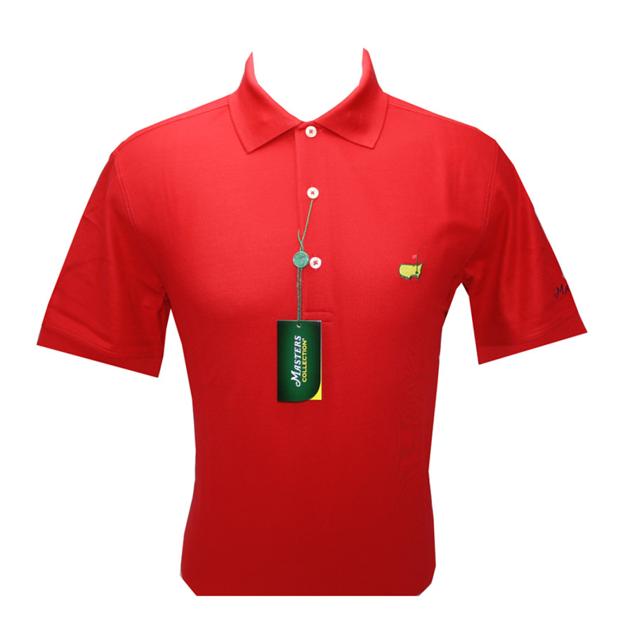 Masters Red Pique Polo