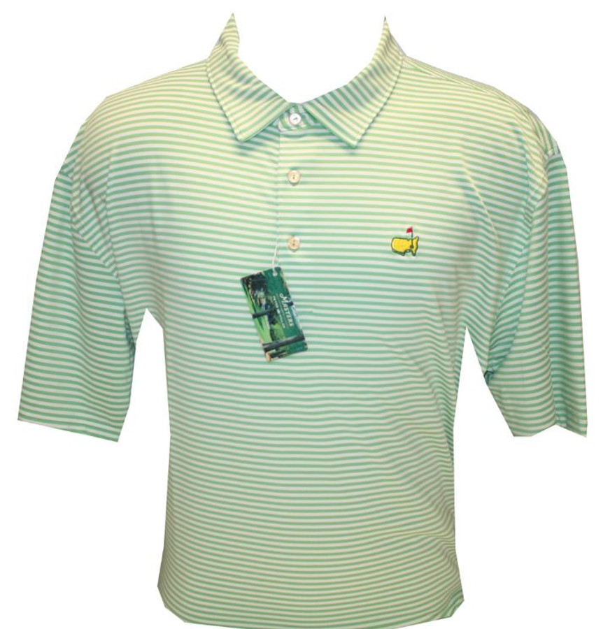 Masters Peter Millar Spring Green Jersey Golf Shirt (XXL Only)