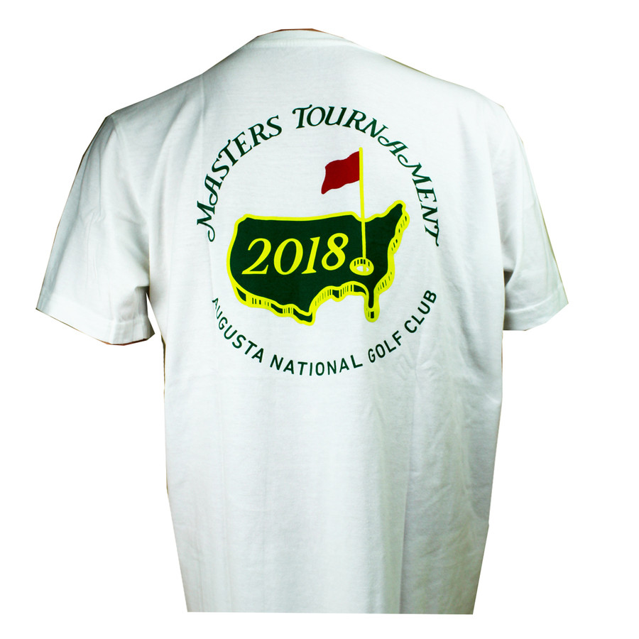 2018 Masters White Small Logo T-shirt