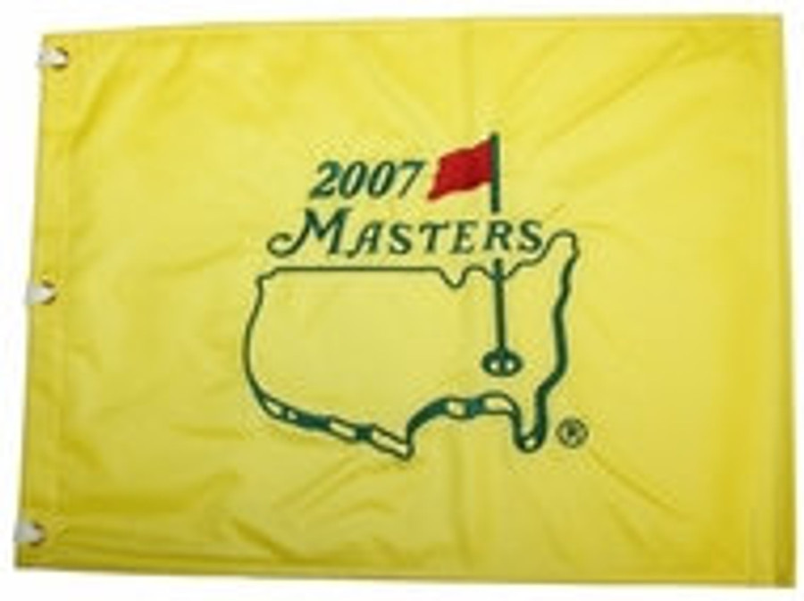 2007 Masters Pin Flag - Framed