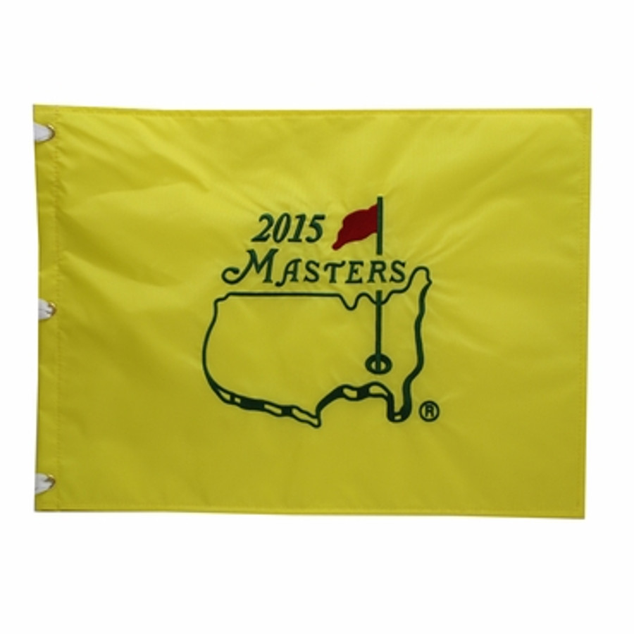 2015 Masters Pin Flag - Framed