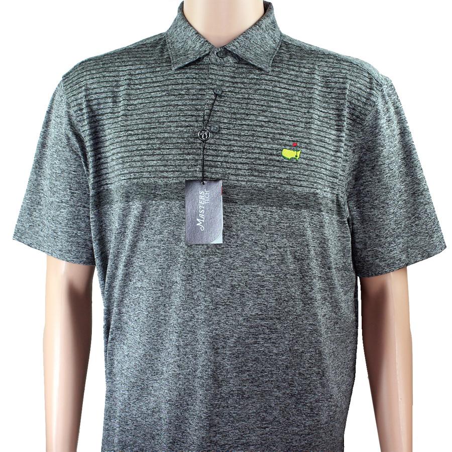 Masters Tech Golf Shirt - Heathered Grey Pattern