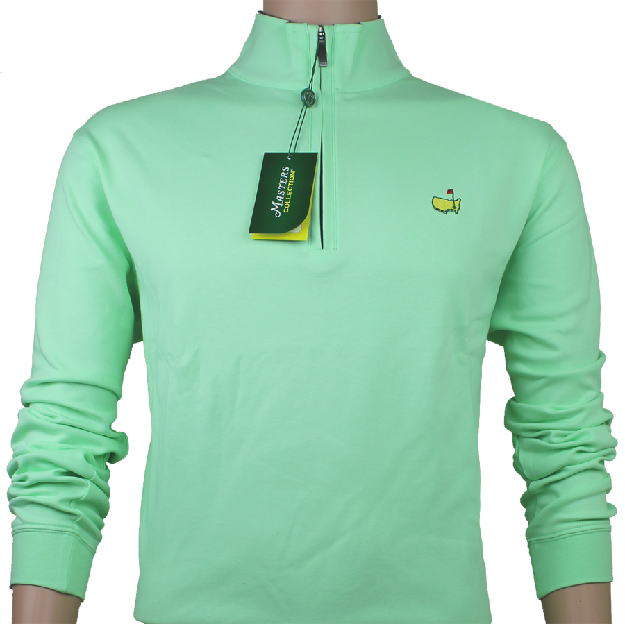 Masters Green Cotton Quarter Zip Pullover