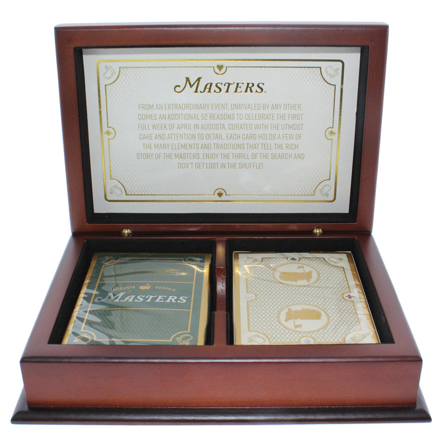 Masters Commemorative Playing Card Set with Wood Case