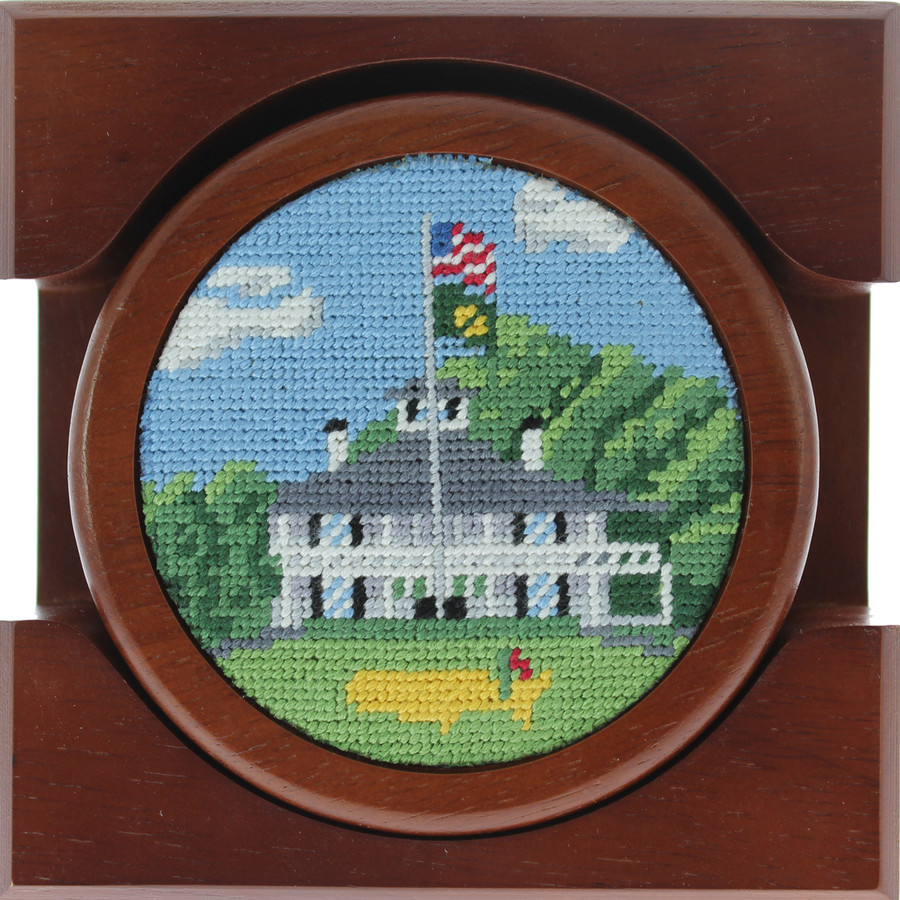 Masters Hand-Stitched Wooden Coasters - 4 Pack