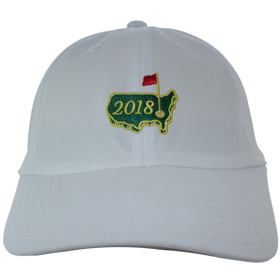 2018 Masters White Performance Tech Dated Logo Hat