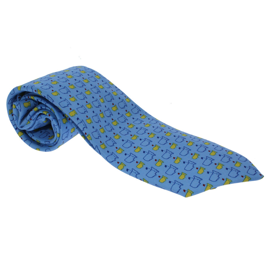 Masters Mens Neck Tie - Light Blue Logo