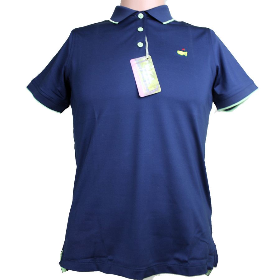 Masters Magnolia Lane Navy with Lime Performance Tech Golf Shirt