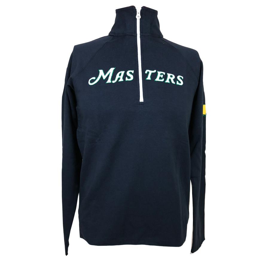 Masters 47 Brand Script Masters 1/4 Zip Cotton Jacket - Navy
