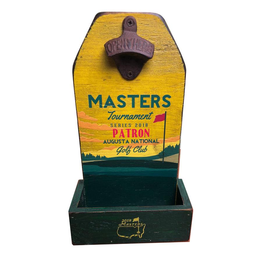 Masters Yellow Wooden Bottle Opener Display