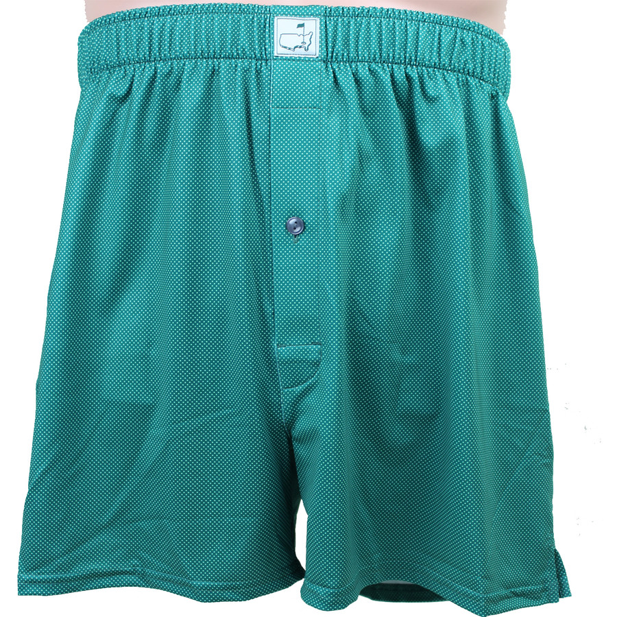 Masters Peter Millar Green Dotted Performance Boxers